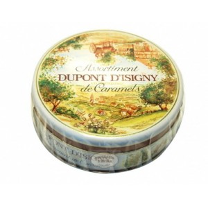 Dupont d'Isigny - Boîte fer ronde Assortiment caramels - 300g