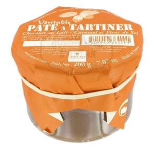 Pâte à tartiner (Véritable) Chocolat LAIT - CARAMEL et FLEUR DE SEL - 200g