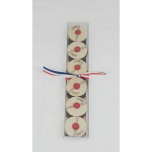 Le Pompon de Brest - Réglette de 6 chocolats  - 60g
