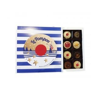 Le Pompon de Brest - Boite marinière 16 chocolats - 160g