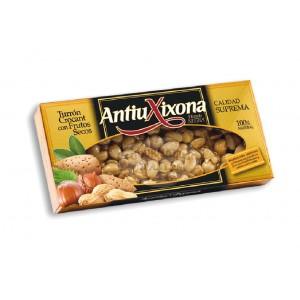 Turrón (nougat) aux fruits secs - Etiquette noire - Antiu Xixona 150g