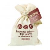 Galettes pur beurre au sel de l'île de Ré Goulibeur - Sac coton 100g
