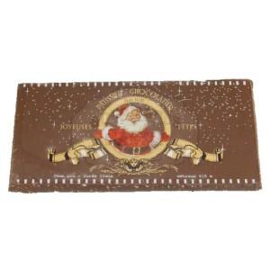 Carte Noël Chocolat LAIT aux éclats de noisettes torréfiées - Comptoir du Cacao - 200g