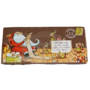 Carte Noël Chocolat NOIR aux éclats de noisettes torréfiées  - Comptoir du Cacao - 200g