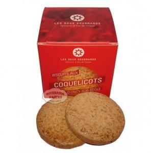 Biscuit Sablé artisanal aux Coquelicots - Les Deux Gourmands
