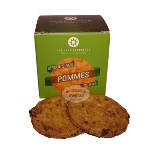 Biscuit Sablé artisanal aux pommes - Les Deux Gourmands