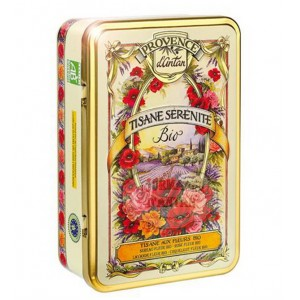 Tisane Sérénité aux Fleurs Bio Provence d'Antan - Boîte métal