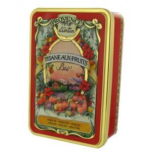Tisane Festive aux Fruits Bio Provence d'Antan - Boîte métal