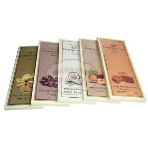 Pack 5 tablettes Chocolat Praliné Feuilleté - Comptoir du Cacao
