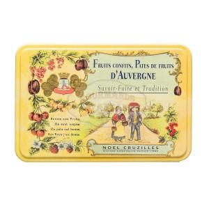 Pâtes de fruits d'Auvergne Cruzilles - Demi-Boite fer 330g