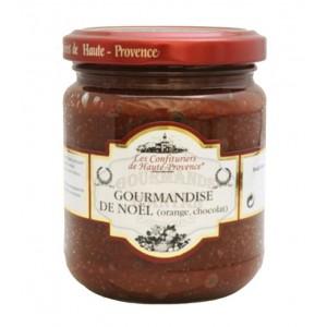 """Gourmandise de Noël Chocolat & Orange """"Les Confituriers de Haute-Provence""""  250g"""