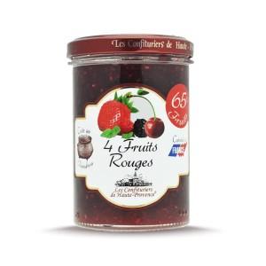 """Confiture 4 Fruits rouges  """"Les Confituriers de Haute-Provence""""  240g"""