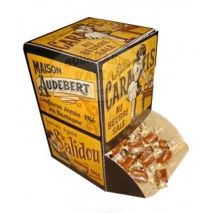 """Caramels tendres au beurre salé (mini) - Boite carton """"Servez-vous"""" 1kg"""