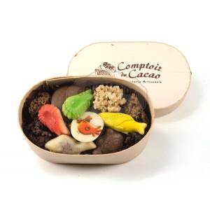 Chocolats PÂQUES Assortiment - Comptoir du cacao - Boite en bois 120g