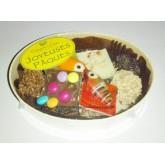 Chocolats Assortiments PÂQUES Comptoir du cacao - Boite en bois 180g