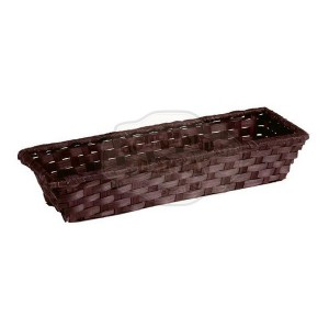 Corbeille bambou rectangle chocolat (30x10x6)