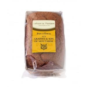 Pain d'épices aux graines et au son de moutarde Mulot & Petitjean - 180g