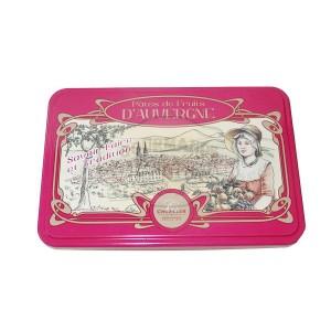 Pâtes de fruits d'Auvergne Cruzilles Tradition - Demi-Boîte fer rose 330g