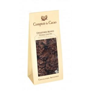 Croustines noires oranges confites  - Comptoir du cacao 100g