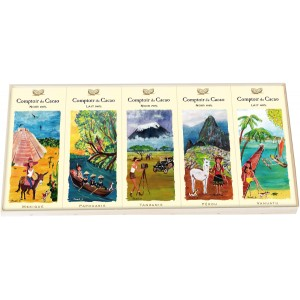 "5 mini Tablettes ""Pures Origines"" 67g -  Comptoir du Cacao"