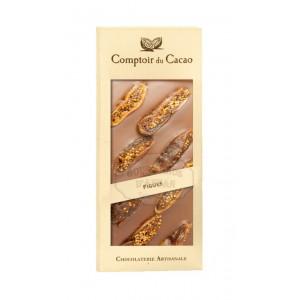 Tablette gourmande Lait - Figue & Abricot Comptoir du Cacao
