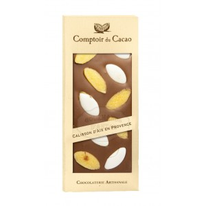 Tablette gourmande Lait - Calisson Comptoir du Cacao