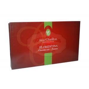 Florentins Chocolat noir & Pomme Chatillon - Boite 100g