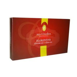 Florentins Chocolat Noir & Citron vert Chatillon - Boite 100g