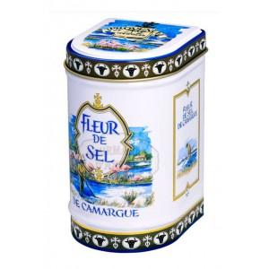Fleur de sel de Camargue Bio Provence d'Antan - Boite fer luxe 125g