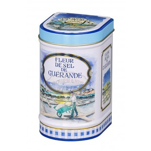Fleur de sel de Guérande Bio Province d'Antan - Boite fer luxe 100g