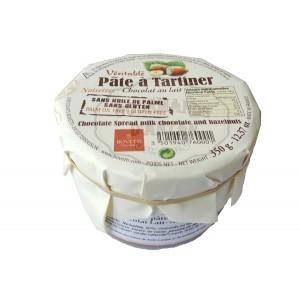 Véritable pâte à tartiner Bovetti NOISETTES - Chocolat LAIT 350g