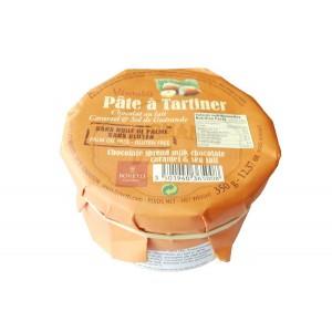 Pâte à tartiner CARAMEL / FLEUR DE SEL - Chocolat LAIT - 350g