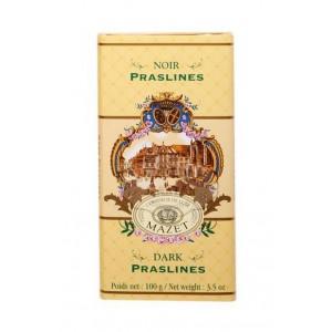 Tablette de chocolat  noir & Praslines Mazet - 100g