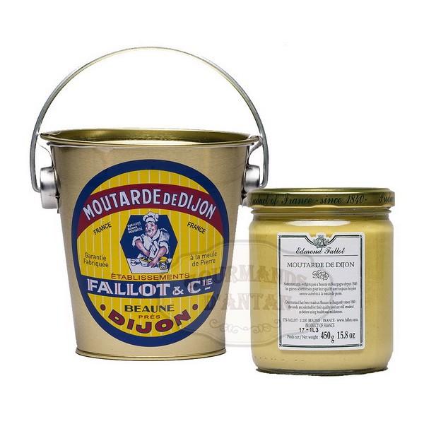 Moutarde de dijon en seau en fer 450g fallot gourmands d 39 antan - Moutarde fallot vente ...