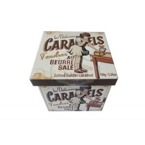 Caramels tendres au beurre salé - Mini Boite fer cube 150g