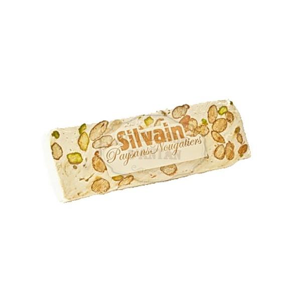 Nougat blanc pistaches silvain barre 100g gourmands d 39 antan - Nougat silvain freres ...