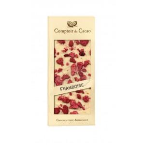 Tablette gourmande Blanc - Framboises Comptoir du Cacao