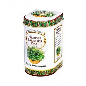 Herbes Salades Bio Provence d'Antan - Boite fer luxe 15g