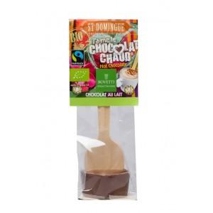 Chocolat chaud LAIT BIO St Domingue - Cuillère bois Bovetti