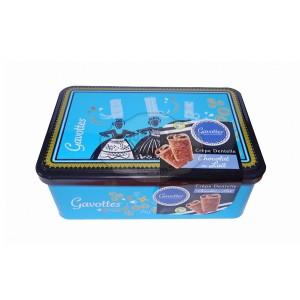 """Crêpes dentelle Chocolat LAIT - Coffret métal """"Bigoudène Bleu"""" 200g - Gavottes"""