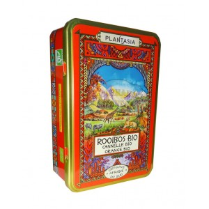 Rooibos Cannelle & orange Bio PlantAsia - Boîte métal