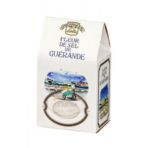 Fleur de sel de Guérande Bio Province d'Antan - Recharge - Boîte carton 100g