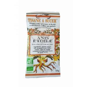 Biopastilles de tisane à sucer ANIS ÉTOILÉE biologique - 15g (25 pastilles)