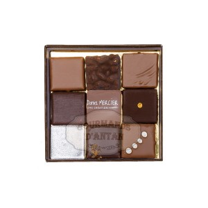 Ecrin de 9 chocolats assortis - Daniel Mercier 90g