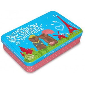 "Petit ourson guimauve ""From Paris With Love"" - Boite fer 150g"