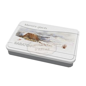 Marrons glacés d'Ardèche AOP (x16) Sabaton - Boite fer LIGER