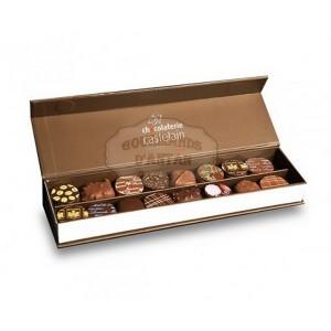 Chocolats noirs et au lait - Coffret Plumier Castelain 160g