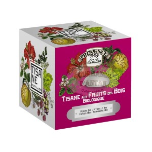 Tisane Fruits des bois Bio Provence d'Antan - Boite cube métal