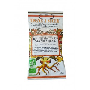 Biopastilles de Reine des prés - Mandarine à sucer biologique - 15g (25 pastilles)