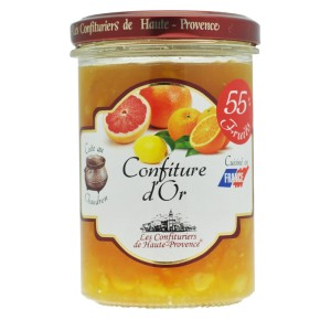 "Confiture d'or (Orange, Citron, Pamplemousse) ""Les Confituriers de Haute-Provence"""